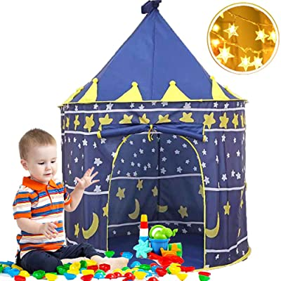 VBY Kids Play Tent Playhouse with Star Lights- Girls Boys Foldable Pop up Tents Princess Castle Indoor & Outdoor Game Tents, Toddler Birthday Gift: Toys & Games