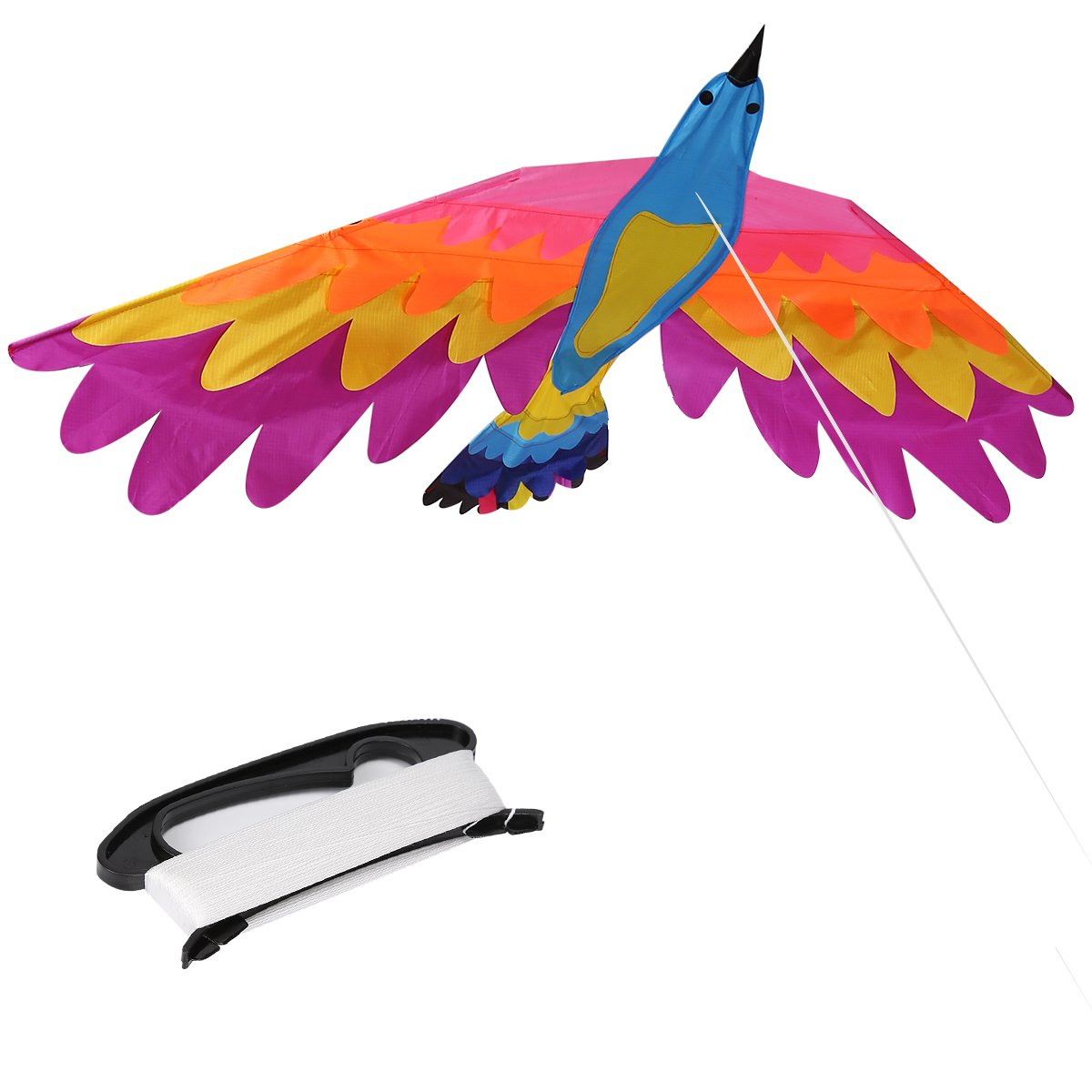 ZS-Juyi Bird Kite Huge Beginner Phoenix Kites for Kids and Adults 71inch x 30inch Come with Come with String and Handle (Phoenix2)