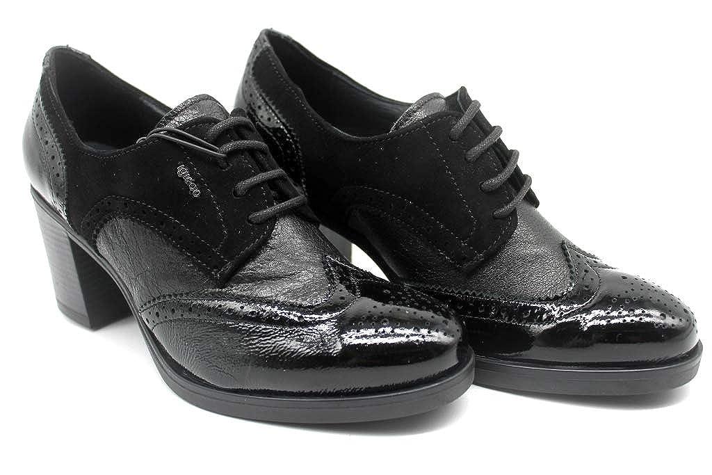 IGIeCO 2188511 Negro Negro Negro Oxford Mujer con Plataforma cceddc