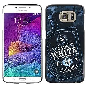 Paccase / SLIM PC / Aliminium Casa Carcasa Funda Case Cover - Jack Bottle Liquor Whiskey Black White - Samsung Galaxy S6 SM-G920