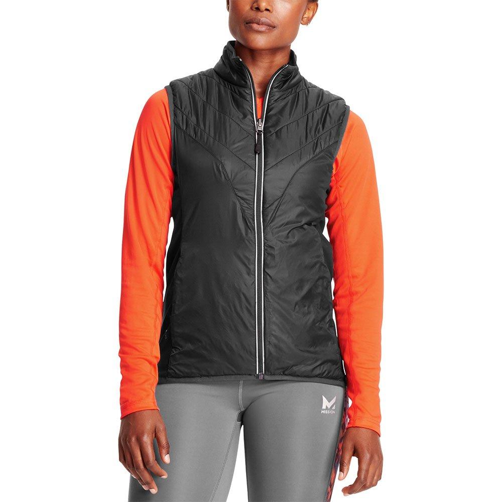 Mission Women's VaporActive Shift Reversible Vest, Moonless Night, X-Small