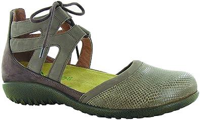 28d9e5064a05 NAOT Footwear Women s Lace-up Kata Shoe Brown Lizard Shiitake Coffee - 4