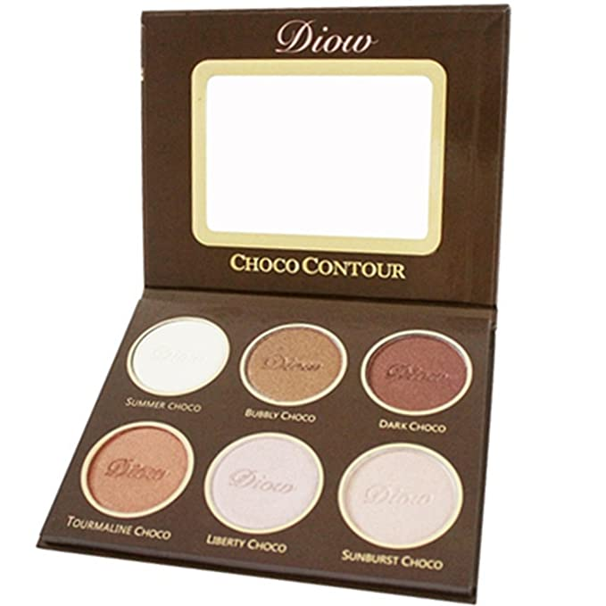 Bronceadores e iluminadores Maquillaje Highlighter Face Powder Palette Contour Kit Chocolate Olor: Amazon.es: Belleza