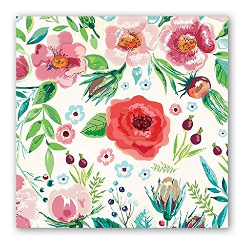 Michel Design Works 20 Count 3-Ply Paper Luncheon Napkins, Wild Berry Blossom