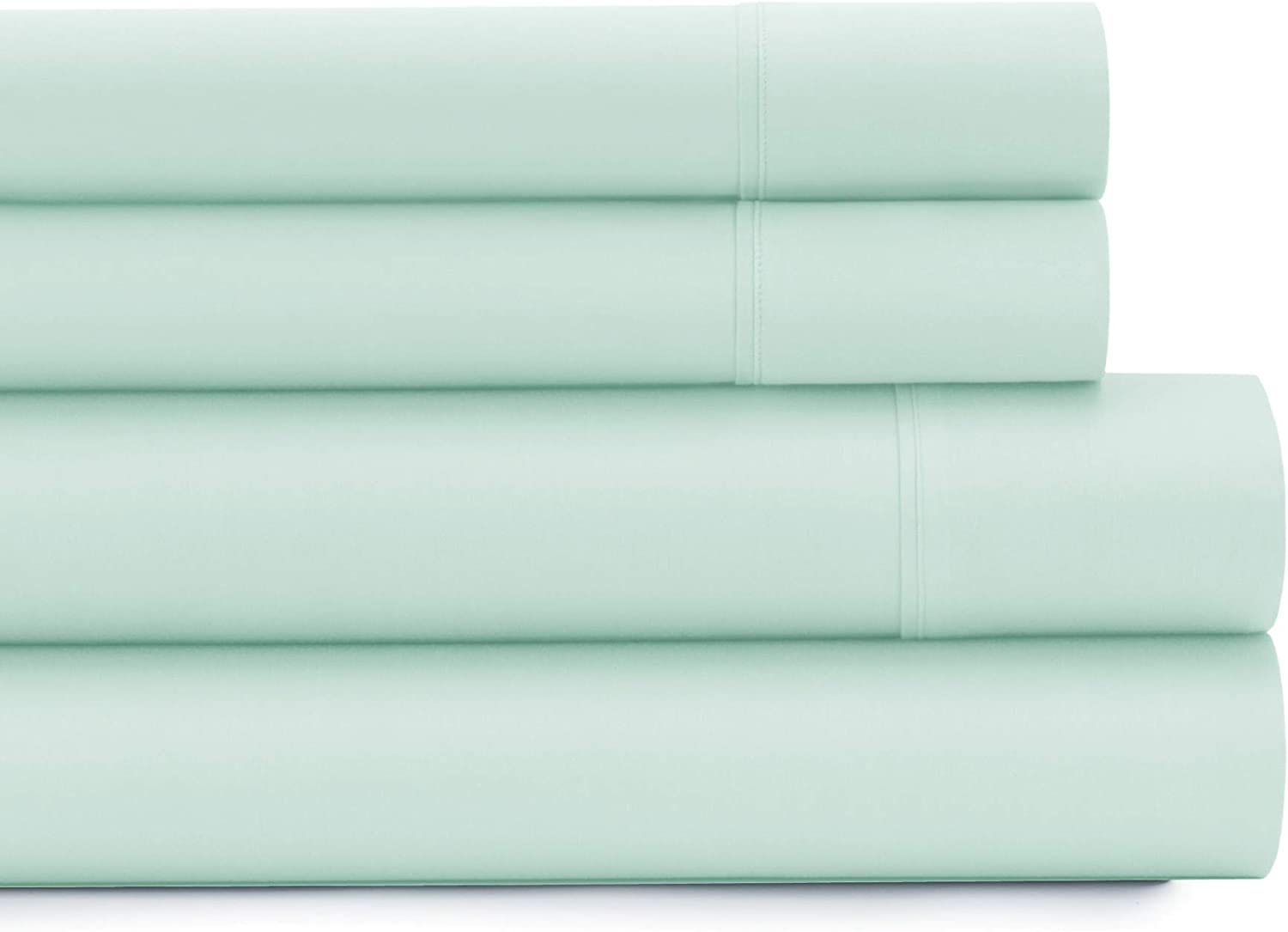 American Home Collection - Deluxe 3 Piece Bed Sheet Sets of Brushed Microfiber - Wrinkle Resistant Silky Soft Touch (Twin, Hint of Mint)