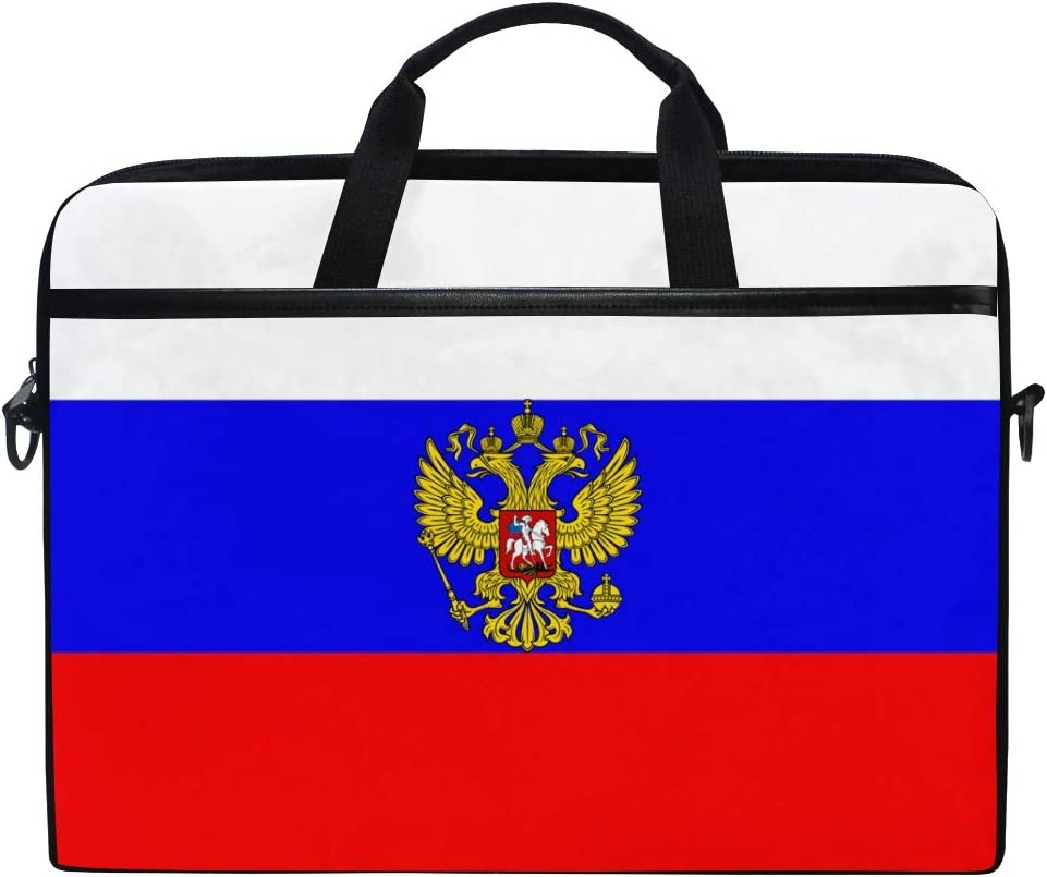 "Waterproof Laptop Bag Case Sleeve for 14"" 15"" 15.4"" Laptop Case Briefcase Russia Flag National Emblem"