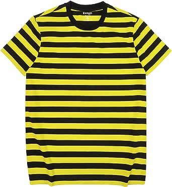 Camiseta básica de manga corta para hombre, de algodón, elastano ...