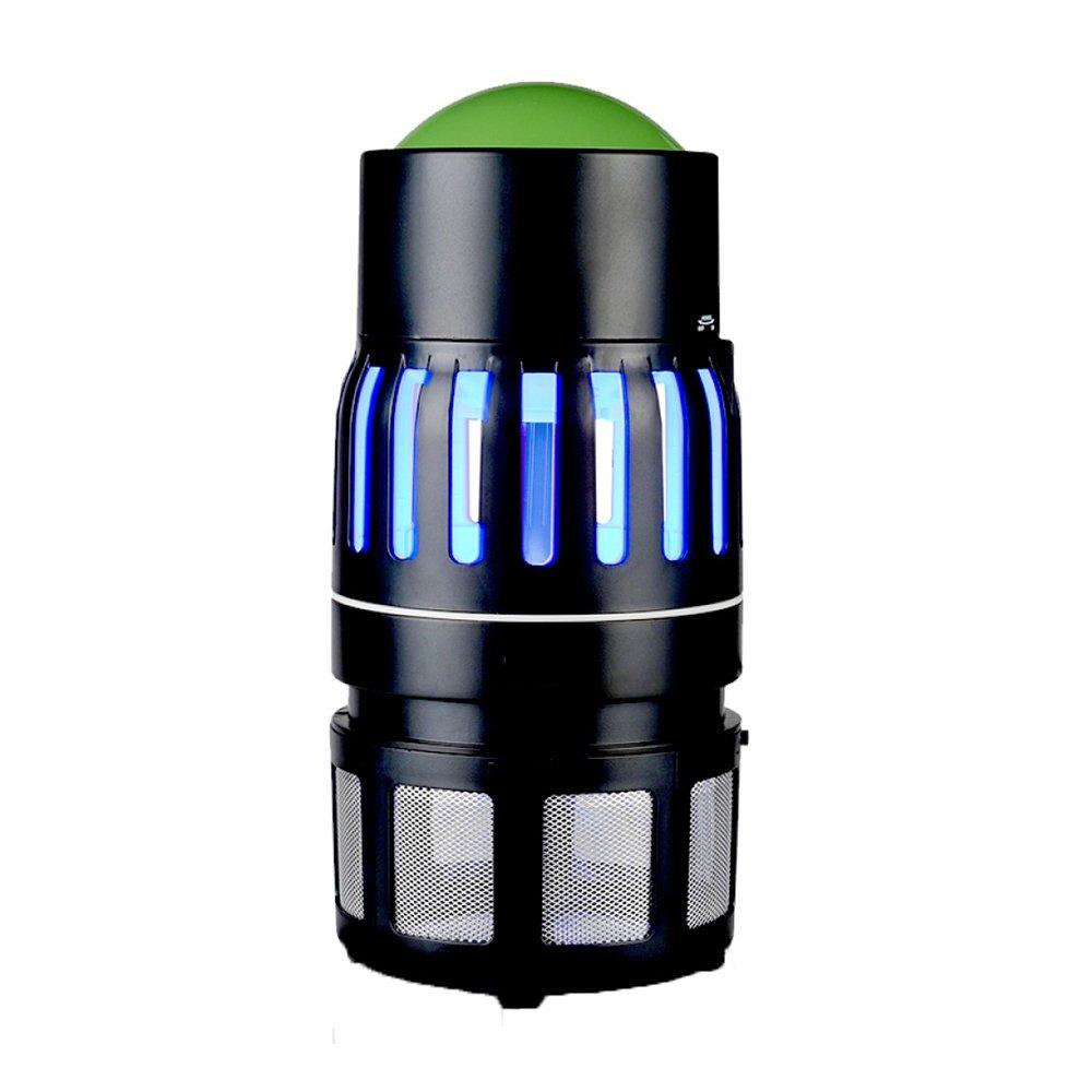 LED-Photokatalysator Anti-Moskito-Lampe Elektroschock Moskito-Killer Strahlungsfreie Stummschaltung Elektrische Moskitofalle,schwarz