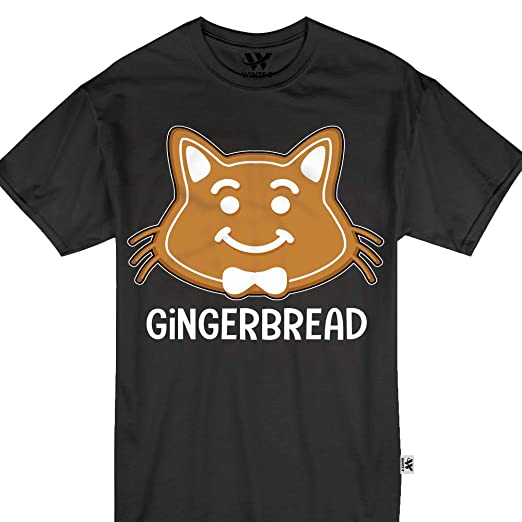 d18928529d Amazon.com  Gingerbread Cat Christmas Cats Pajamas Matching Tshirt  Clothing