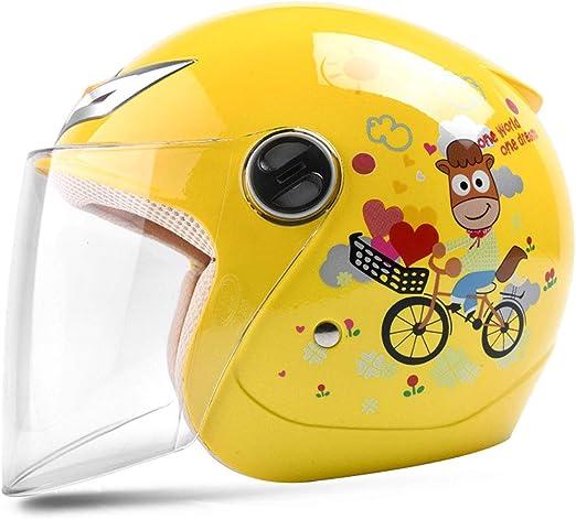 ZXW Casco- Casco de niños Bicicleta niño niña bebé Cuatro ...