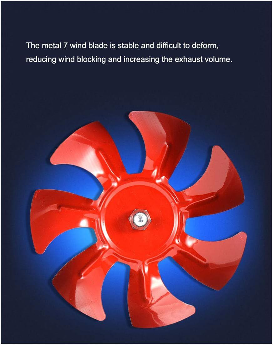 ventilaci/ón de Aire Cocina Xcmenl Extractor De Aire Silencioso Ventilador De Conducto De Ventilacion 200mm Volumen De Aire 850M/³//H para ba/ño