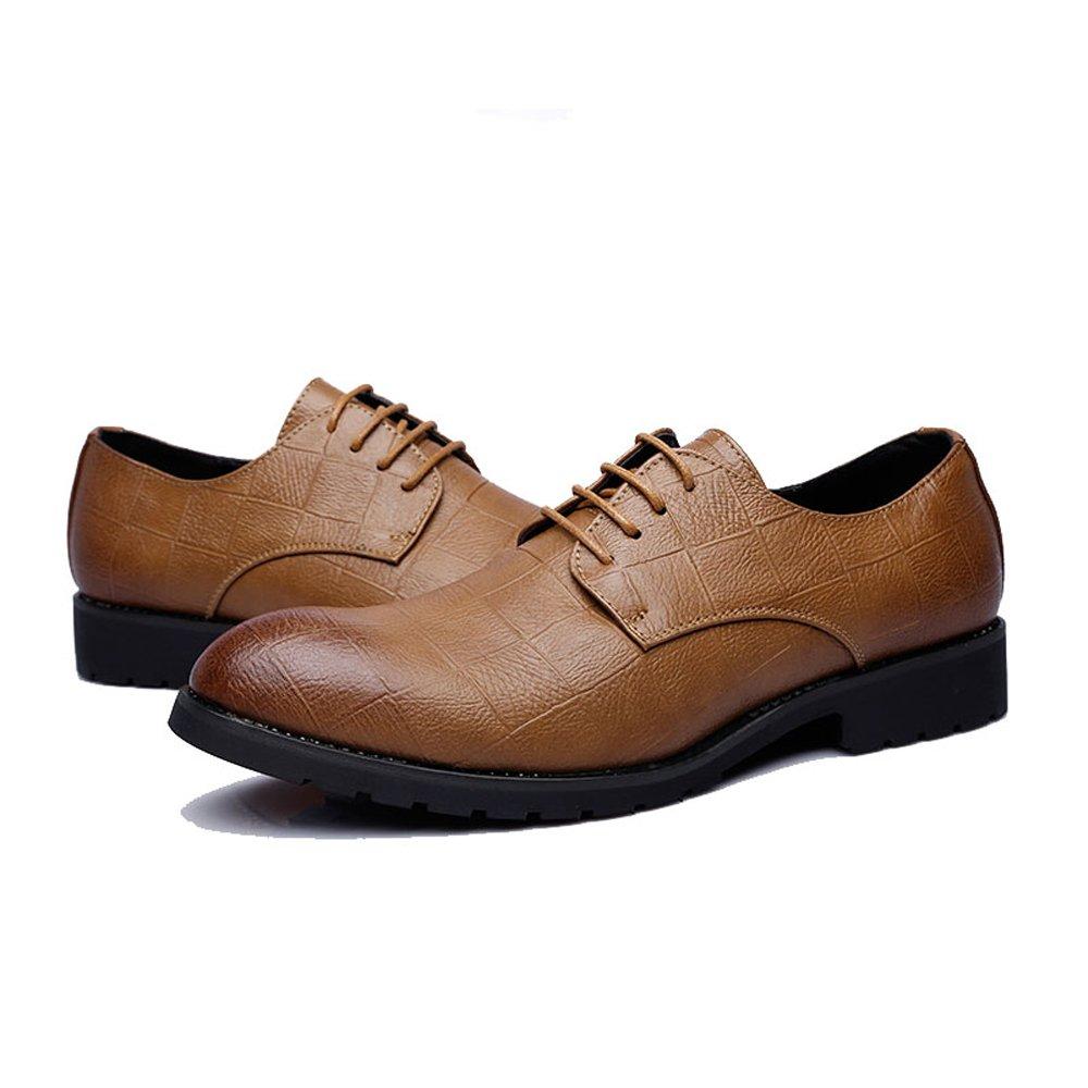 XXY Herren Business PU Leder Schuhe Klassische Klassische Klassische Lace Up Müßiggänger Quadratische Textur Niedrige Top Oxfords Mode Slipper  71c5df