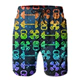 colorful Workout Set Weight Set Lover Men's Basic Board Shorts M With Pocket