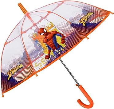 Paraguas Infantil Transparente Spiderman Niño - de Burbuja ...