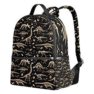 Ahomy School Backpack, Dinosaur Skeleton Bookbag Travel Large Casual Rucksack Daypack for Teenagers Girls Boys Kids