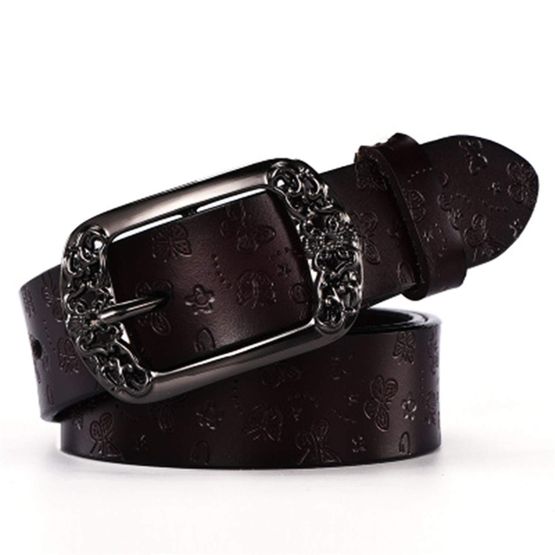 Cyose Fashion Genuine Leather Vintage Print Butterfly Women Belt Belts For Women Ceinture Femme