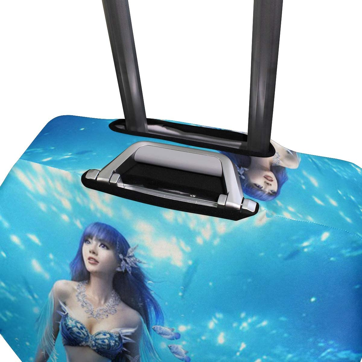 Fit 18 to 32 Jacksome Mermaid Luggage Cover Washable Elastic Suitcase Cover Protector Size XL 29-32 inch