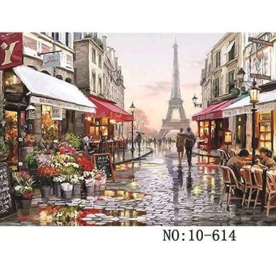 Aoile 1000 Pieces Landscape Puzzle Educational Toys for Adults Children Kids Games Paris Flower Street 614: Toys & Games