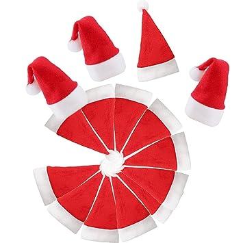 Amazoncom Mini Christmas Santa Hat White Red For Crafts Wine