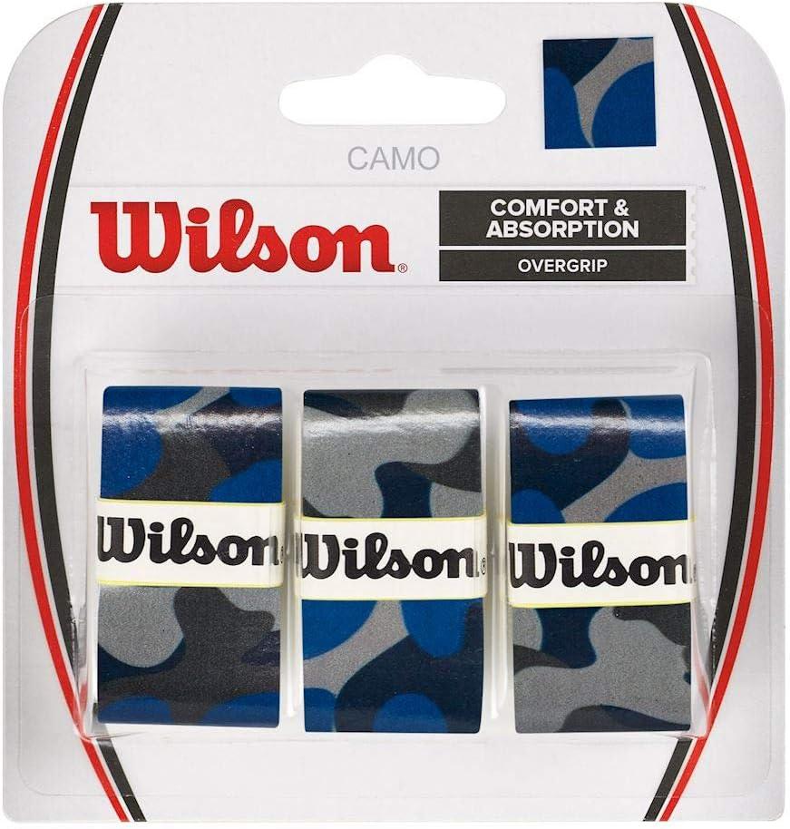 Wilson Juego de sobreempuñaduras Camo, 3 recambios, Diseño de ...