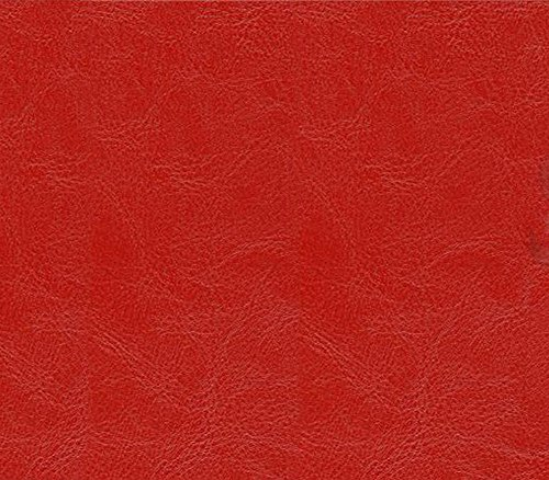 Vinyl Fabric Faux Leather Distressed OX Skin Upholstery RED / 55