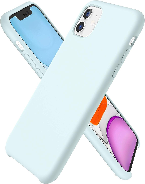 Ornarto Kompatibel Mit Iphone 11 Silikon Case Hülle Ultra Dünne Flüssig Silikon Handyhülle Schutz Für Iphone 11 2019 6 1 Zoll Meerschaum Elektronik