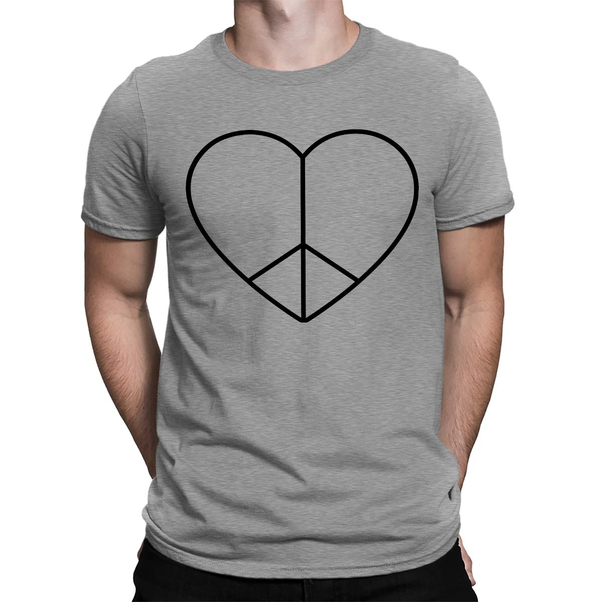 Apparel Peace And Love Heart S T Shirt