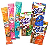 Friskies Pull 'n Play / Party Mix Cat Treat Variety Pack – 6 Items – (3 Pull 'n Play Tender String Packs & 3 Friskies Party Mix Crunch Treats Flavors) For Sale