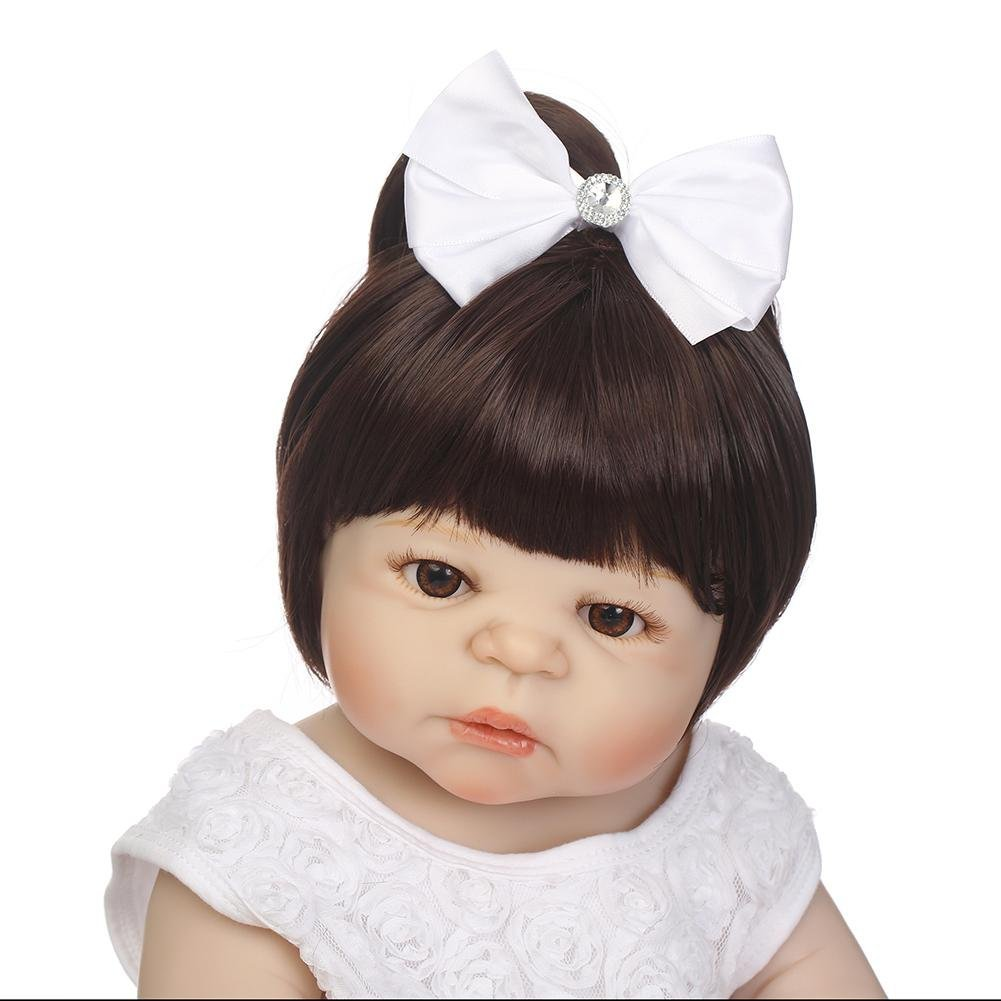 chinatera NPK Simulation Artificial Waterproof Soft Silicone Reborn Baby Dolls Lifelike Infants Girl Doll Toys Photographic Prop by chinatera (Image #6)