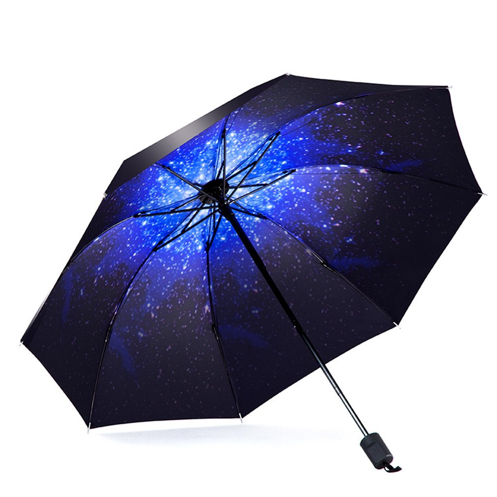Guoke Umbrellas Sunscreen Uv Protection Umbrellas Vinyl Umbrella Fold A5 Fine Rain. by Guoke (Image #1)
