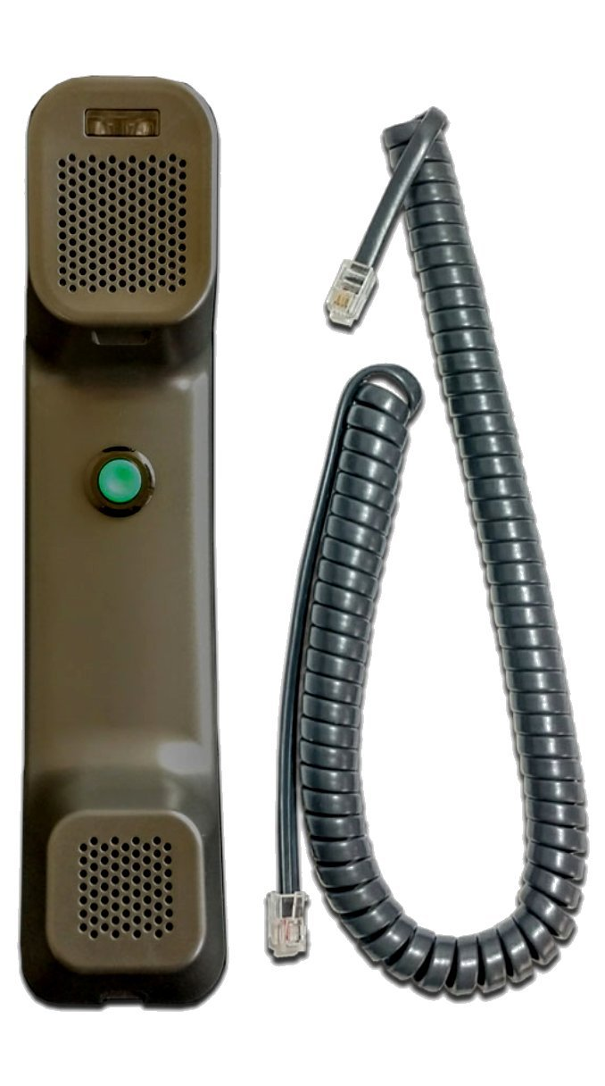 Cisco 7800/8800 Series Wideband Handset Charcoal Gray with Curly Cord by ineedITparts.com