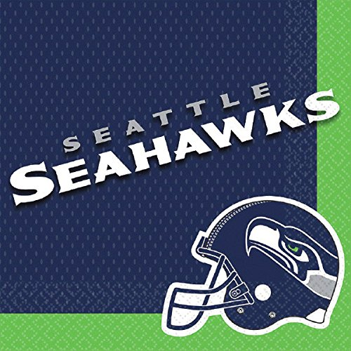 Amscan ''Seattle Seahawks Collection'' Luncheon Napkins, 96 Ct. by amscan