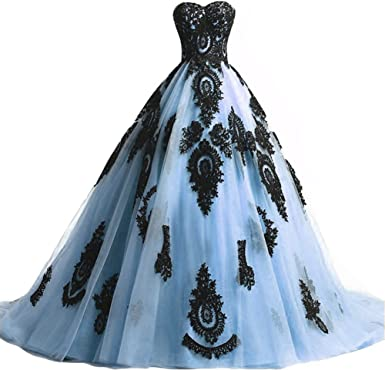 Gothic Wedding Dress Prom Evening Gown