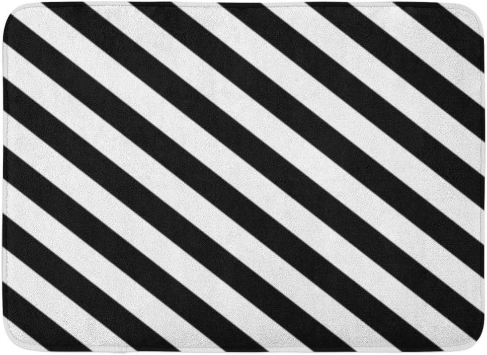 Diagonal Stripe Super Plush Memory Foam Bath Mat  Multiple Sizes /& Colors