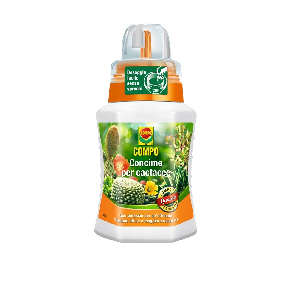 Compo 1406402005 Fertiliser for cactacee, 250 ml, Green, 6.3 X 7 X 15.5 cm
