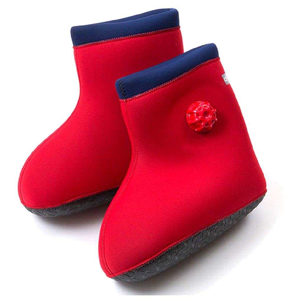 CLO'Z Yawaraka-Yutanpo Soft Hot-Water Bottle, For Feet, Sole Of Feet Included, Red, M: Up To 10.63'' (27Cm)