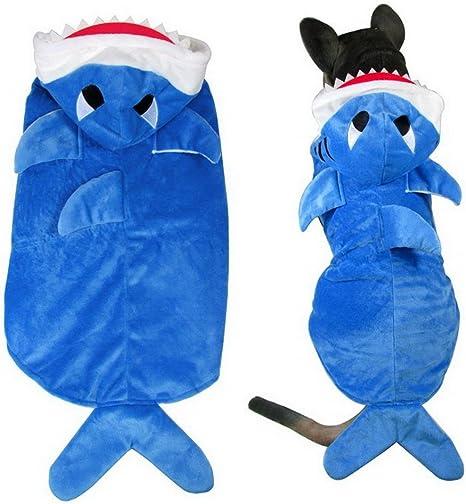 Ranphy Disfraz de tiburón con capucha para perro, cachorro y ...