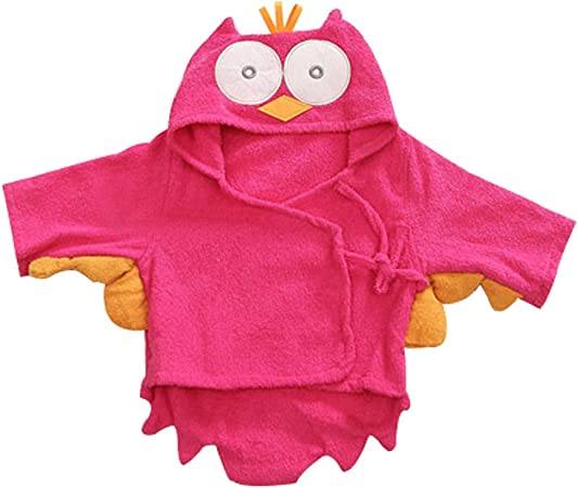 Green BOZEVON Baby Bathrobe Bath Towel Infant Hooded Poncho Cotton Blankets Coated Nightgown Kids Sleepwear Homewear 0-3years