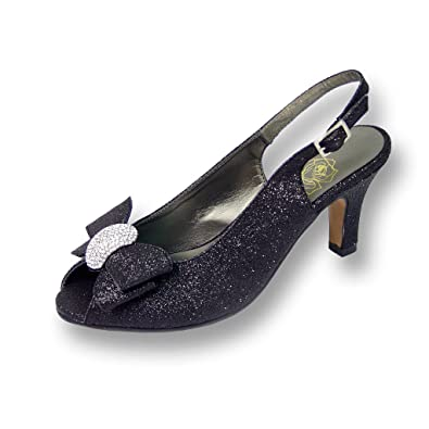 259b2998001 Floral Women s Emely Metallic Synthetic Black Sling Back 6