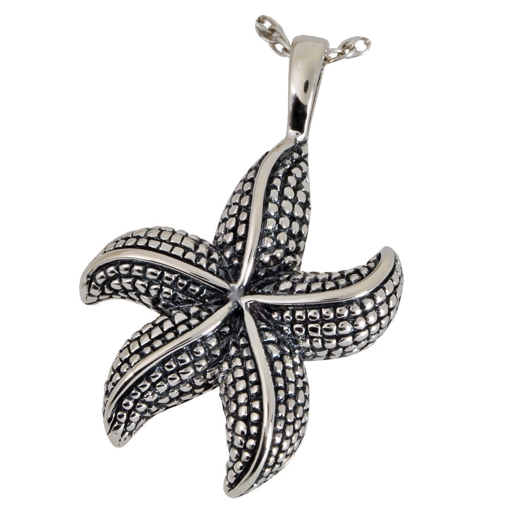 Memorial Gallery 3130s Star Fish Sterling Silver Cremation Pet Jewelry