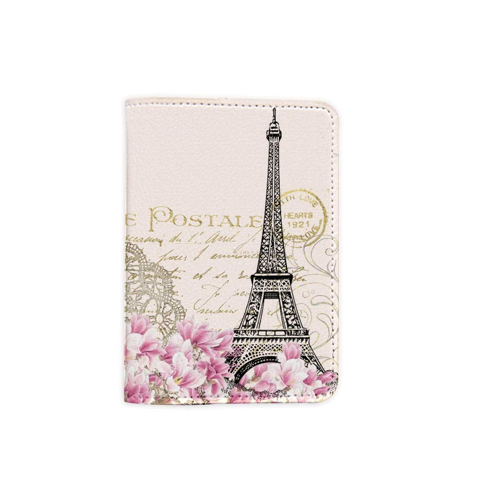 Passport Wallet/_SUPERTRAMPshop Passport Covers Paris Magnolia Customized Cute Leather Passport Holder