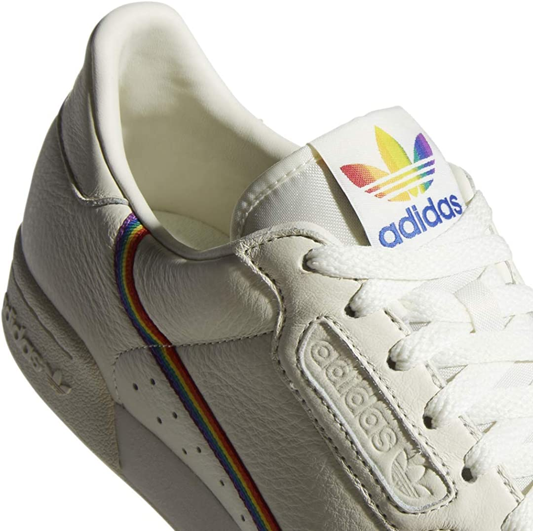 extraño Estallar El aparato  Amazon.com | adidas Mens Continental 80 Pride Sneakers Shoes Casual - Off  White - Size 7.5 D | Fashion Sneakers