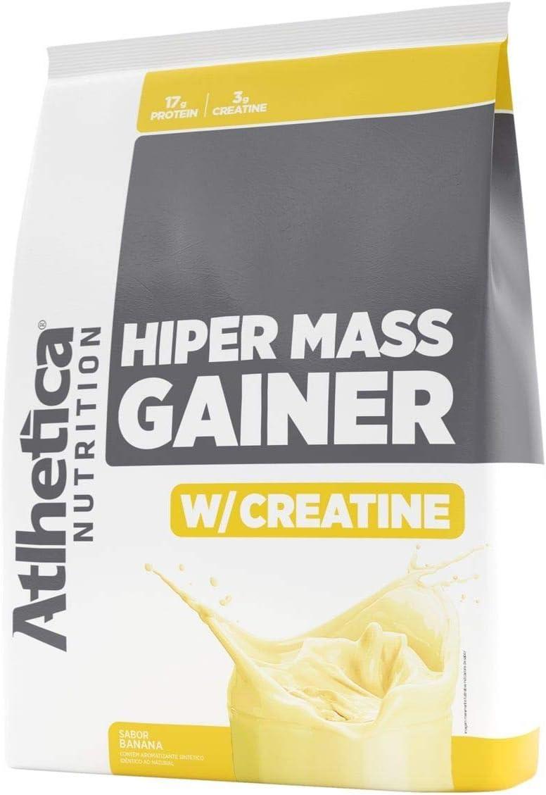 Hiper Mass Gainer W/Creatine (3Kg) - Sabor Banana, Atlhetica Nutrition por Atlhetica Nutrition