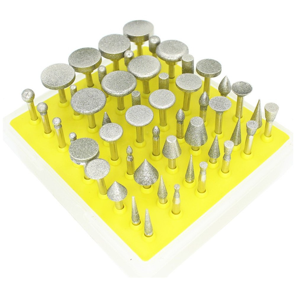 SANHOOII 50in1 Power Rotary Tool Accessories Rotary Tools Set Diamond Burrs 3.2MM Shank For DIY Carving Polishing
