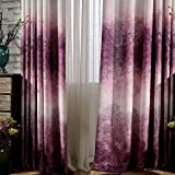 KoTing Blackout Lining Drapes,Dream of Foggy Purple Tree Forest Window Curtains for Living