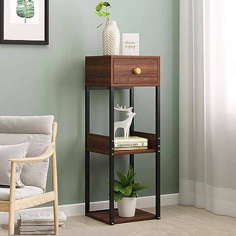 Amazon.com: Mesa auxiliar   Mesa auxiliar con estante para ...