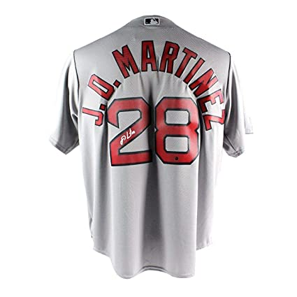 low priced 62995 77fed Amazon.com: J.D. MARTINEZ Autographed Boston Red Sox Grey ...