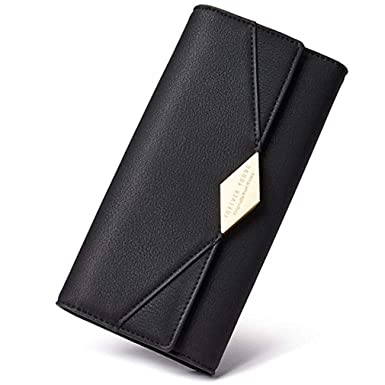 cca9e915637 Women Wallet Long Soft Leather Clutch Card Holder Purse Black 3 Different  Styles by NOVECASA (