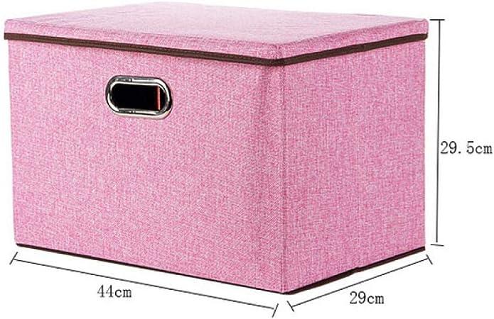 Caja de Almacenamiento Plegable Cuadrada de Lino y algodón para Armario Grande Rectangular con Tapa y contenedor portátil: Amazon.es: Hogar