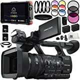 Sony HXR-NX5R NXCAM Professional Camcorder 13PC Accessory Bundle - Includes Atomos Ninja Flame + Includes 2X 64GB SD Memory Cards + 2 Replacement Batteries + More